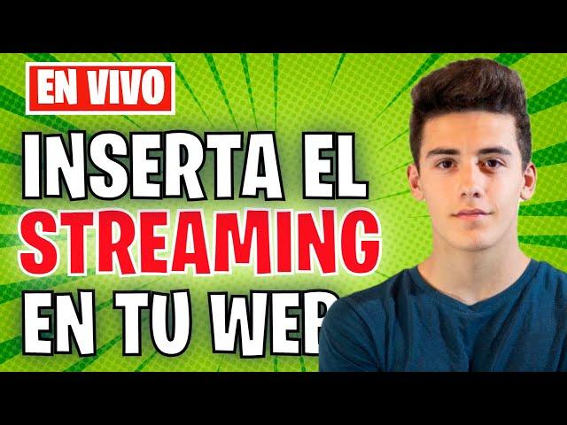 Inserta tu streaming en tu web | con @Biel Tenias