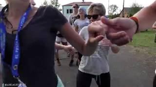 PPŁ   Grupa 7. tańczy belgijkę na postoju w Woli Wiewieckiej
