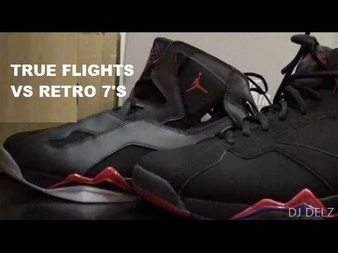 acb22081b66a4e Jordan True Flight VS Air Jordan 7 Shoe Comparison Review With DJ Delz