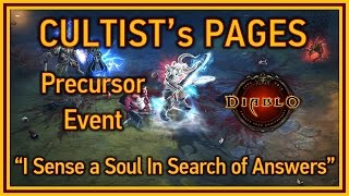 Diablo 3 - Cultist's Pages achievement (I sense a soul in search of answers) - Darkening of Tristram