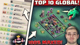 KOMPLETT MAXED OUT! | TOP 10 GLOBAL! | Clash of Clans Deutsch
