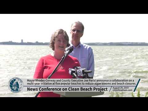 News Conference: Madison And Dane County Announce Joint Clean Beach Project