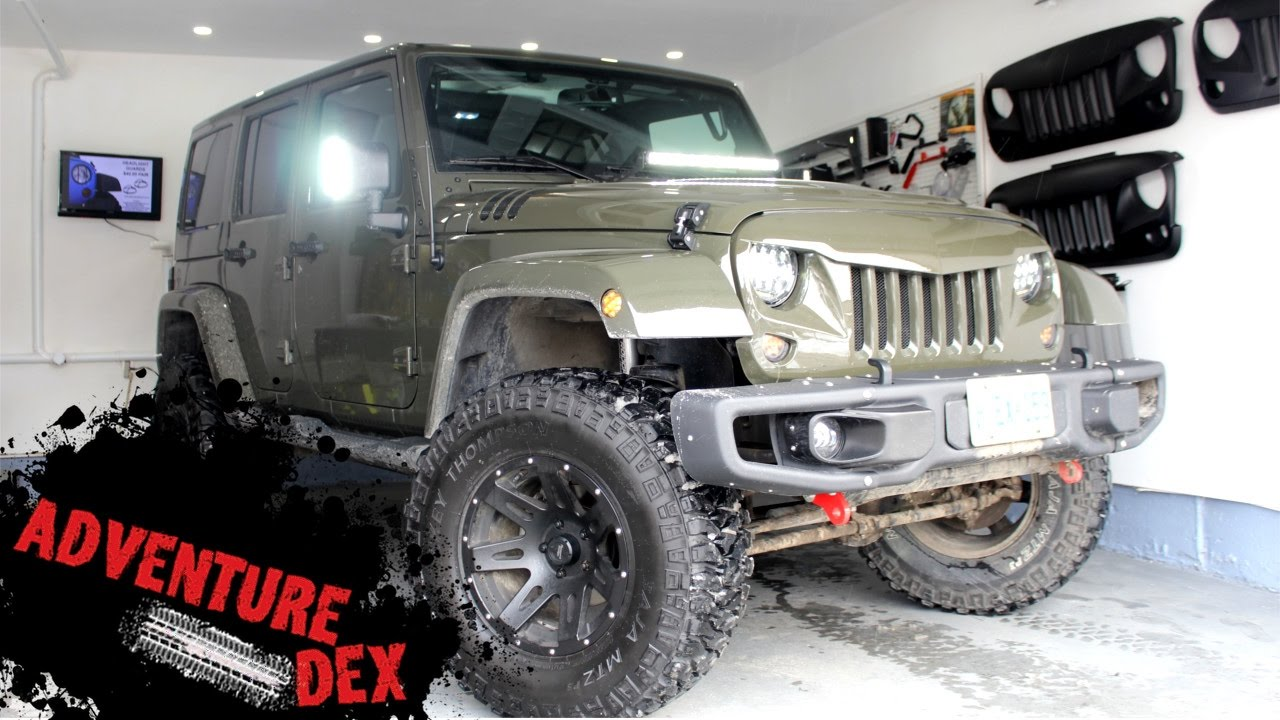 2016 custom jeep wrangler sahara walk-around! lots of mods! - youtube