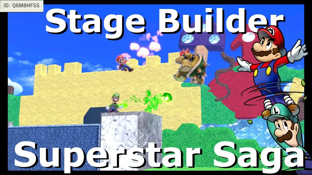 Super Smash Bros Ultimate Stage Builder Mario Luigi