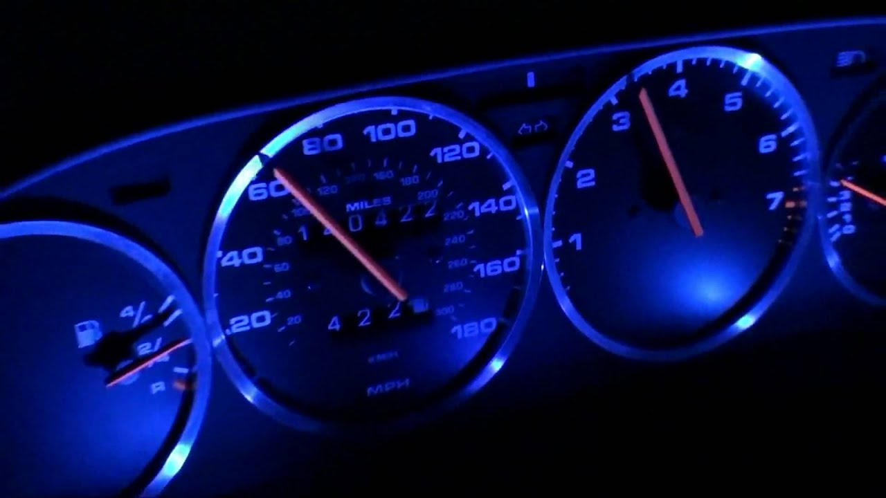 Porsche 944 968 928 LED and Aluminum Bezel Gauges by Garage9  G9PorscheBLUELED wmv