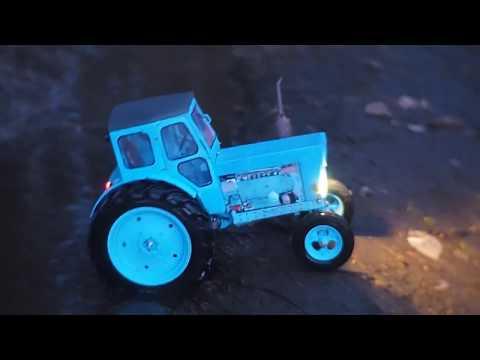 Радиоуправляемая модель трактора ЛТЗ Т-40, напечатанная на 3D принтере