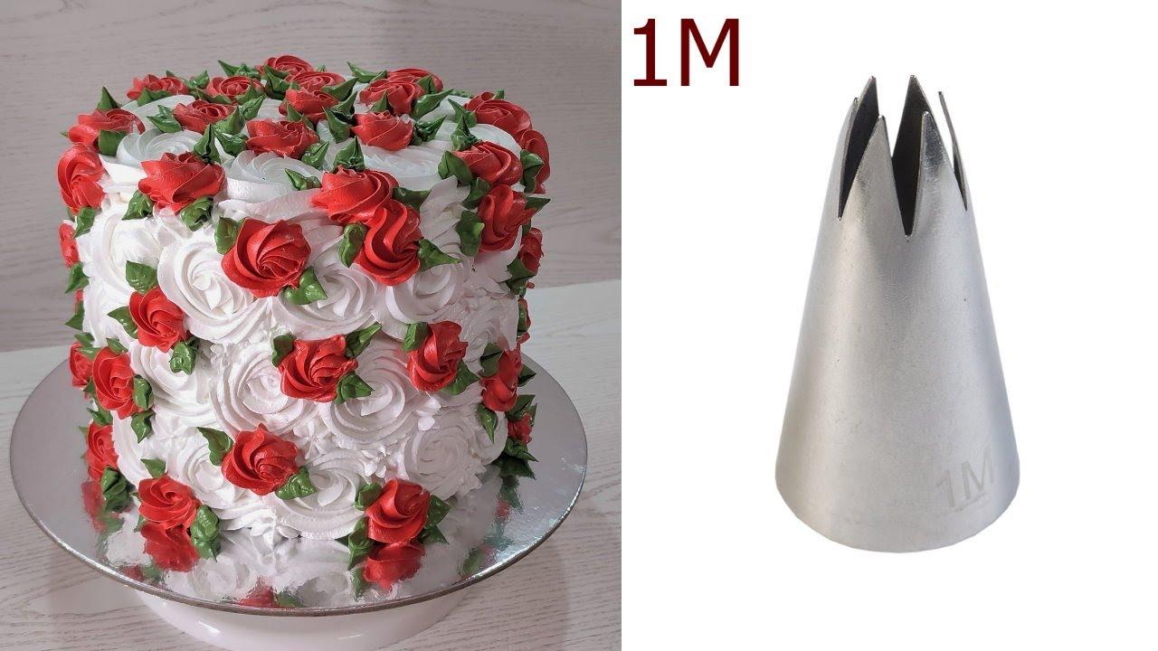 Как эффектно украсить торт ОДНОЙ насадкой? Быстро и ПРОСТО! Украшение бзк! Cake Decorating!