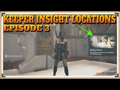 Assassin's Creed Odyssey: Fate Of Atlantis - All Keepers Insights Locations In Episode 3