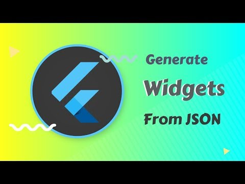 Flutter: Generate Widgets Automatically From JSON   New Flutter Tool