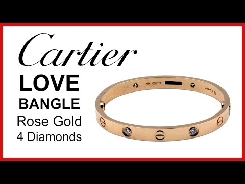 Cartier Love Bangle, Diamond UNBOXING & REVIEW - Rose Gold, Ladies Bracelet, B6036017