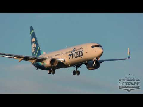 Alaska Airlines Boeing 737 Test Flight - Missed Approach - Paine Field