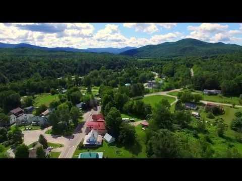 A Flight Over the Village - Huntington VT - Green Mountain Drone