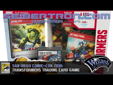 Wizards of the Coast Transformers Trading Card Game shown at SDCC 2018