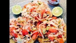 Tostadas de Jaiva / Crab Meat Tostadas (How To) (Mom)