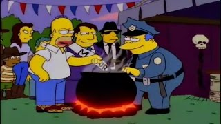 Homero en el concurso del chile con carne - Los Simspon