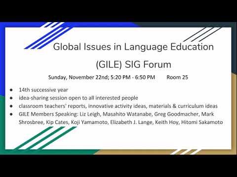 JALT2020 GILE (Global Issues In Language Education) SIG Forum