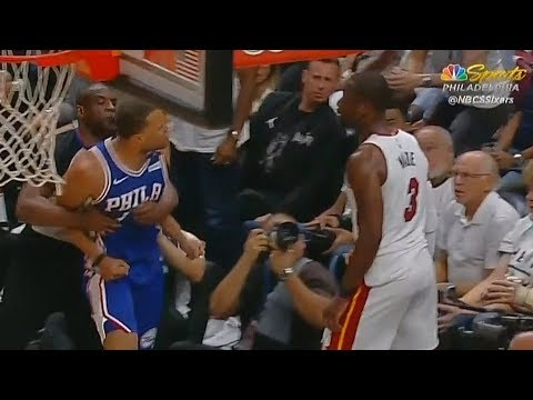 Dwyane Wade Shoves Justin Anderson To The Ground And Both Almost Fight During Scuffle!