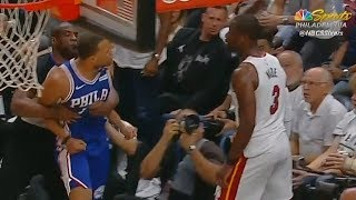 Dwyane Wade Shoves Justin Anderson To The Ground And Both Almost Fight During Scuffle! thumbnail