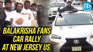 Balakrisha Fans Car Rally At New Jersey US To Welcome Gautamiputra Satakarni Movie