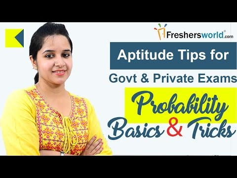 Aptitude Made Easy - Probability - Basics and Tricks - Part 1, Math Tricks for Govt Exams