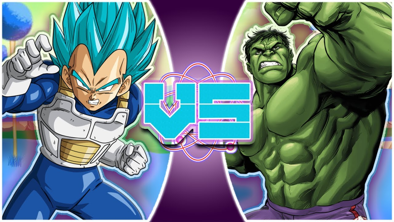 VEGETA vs HULK (Dragon Ball Super vs Marvel Comics) | REWIND RUMBLE