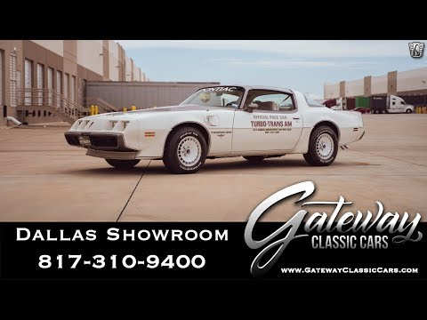 1980 Pontiac Firebird Trans Am Indy Turbo Pace Car - Gateway Classic Car Dallas #1012