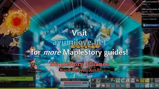 Ayumilove MapleStory Black Heaven Act 6 Storyline Guide
