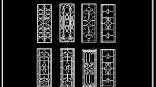 【25000 Cad Blocks Download  】chinese Classic Grilles Glazing Design