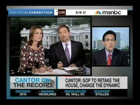 Rep. Cantor Reluctantly Admits Extending Bush Tax Cuts Will Increase Deficits