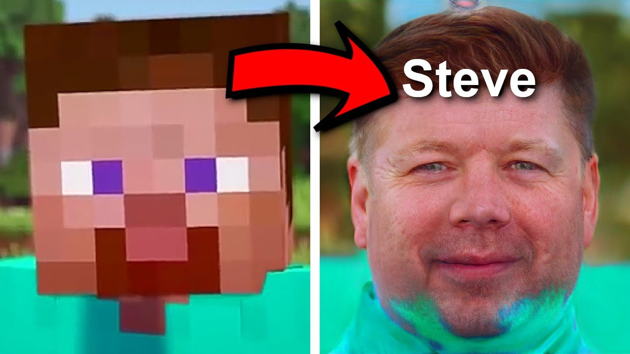I used an AI to make Realistic Faces from Minecraft Characters