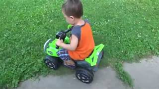 Kids Ride On 6V Battery Powered ATV Quad Toy Review - Leon Toy Time