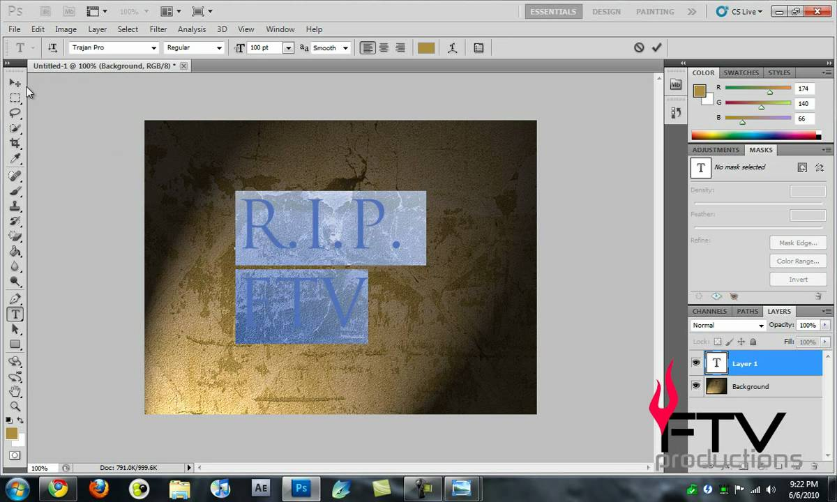 How to make an inscription in Photoshop