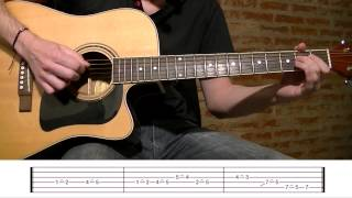 How To Play The Pink Panther Theme Song On Acoustic Guitar / Guitar Lesson Tutorial TCDG