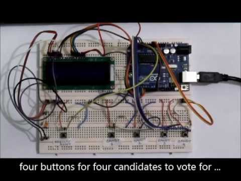 electronics voting machine project microcontroller