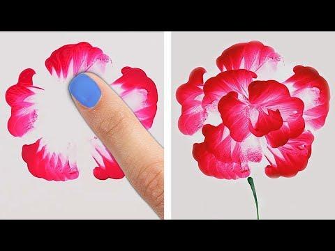 Как нарисовать цветы просто и красиво