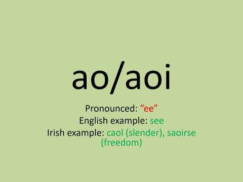Learn Irish-Lesson 1 Pronunciation 1 (Vowels)