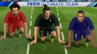 FIFA 19 SPEED/PACE TEST (who is the FASTEST player in FIFA 19 without the ball)
