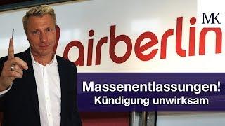 Air Berlin: Prozessfinanzierung bei Kündigungsschutzklage - Jetzt Arbeitsplatz retten! #FragMingers