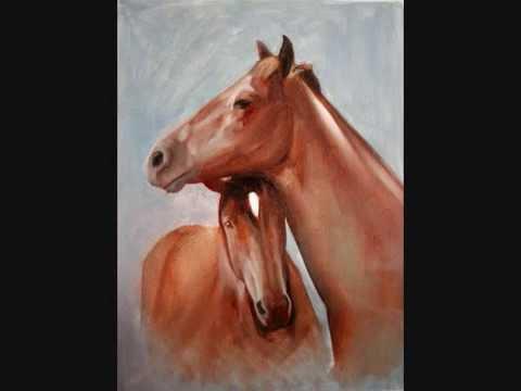 Proceso de pintura al oleo en fotos - pintando caballos