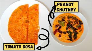അടിപൊളി മഴയത്തൊരു Healthy Breakfast | Variety Breakfast Recipe Ideas | Tomato Dosa, Peanut Chutney
