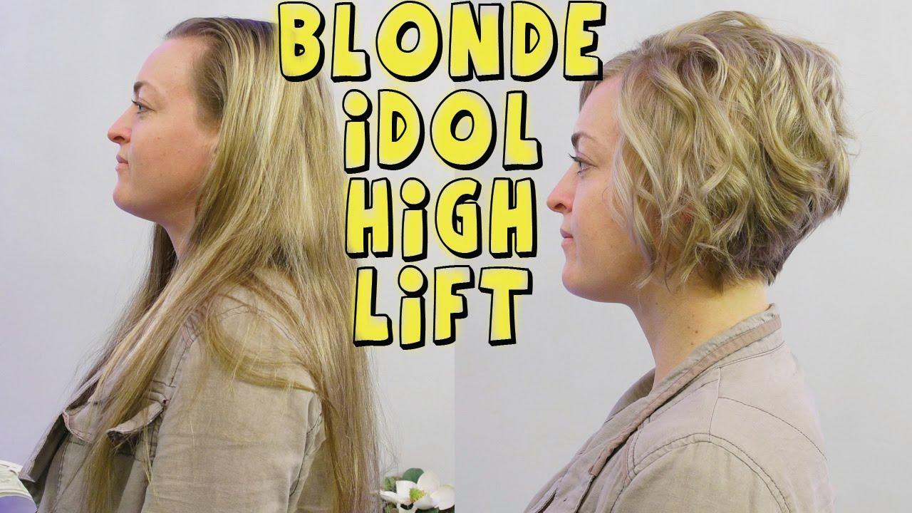 Redken Blonde Idol High Lift Color On Short Hair Youtube