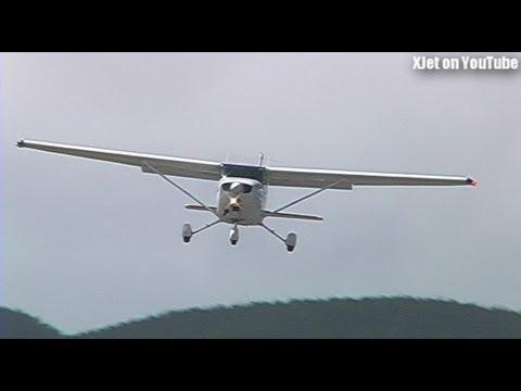 Light Aircraft In WILD Cross-wind Landings At Tokoroa Airfield
