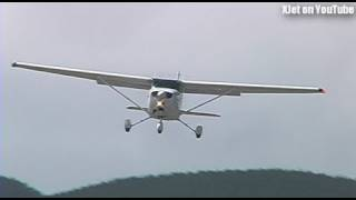 Light aircraft in WILD cross-wind landings at Tokoroa Airfield