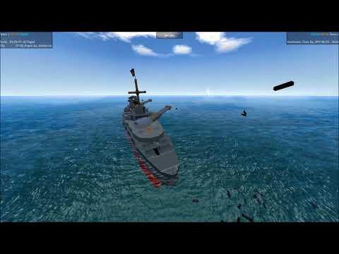 From The Depths Tournament Frigate Fracas E 10 Papel vs The Frigate