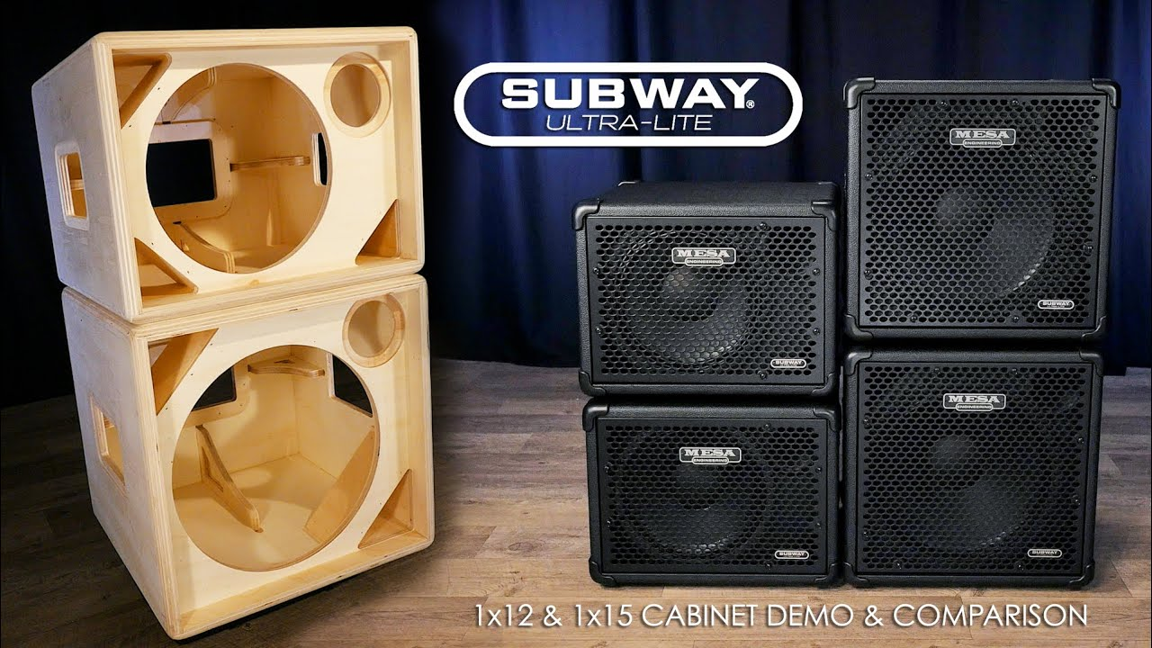 MESA® Subway® Ultra Lite 1x12 U0026 1x15 Official Cab Demo/Comparison   YouTube