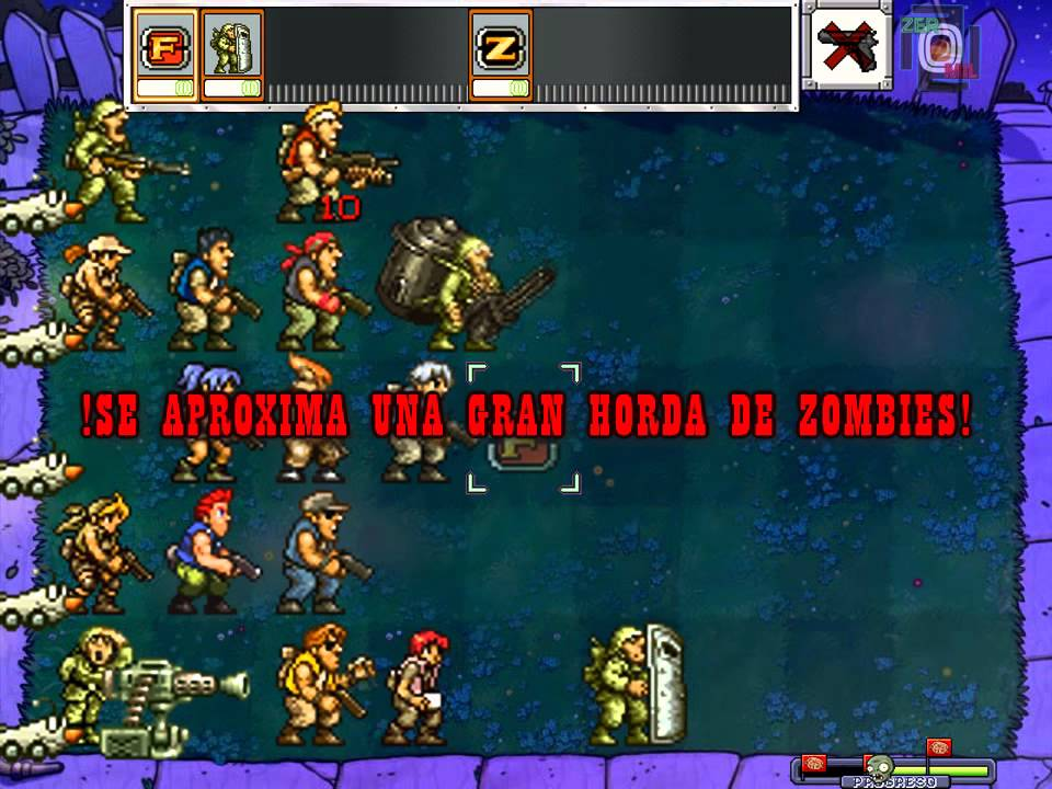 Metal Slug Soldiers vs Zombies.