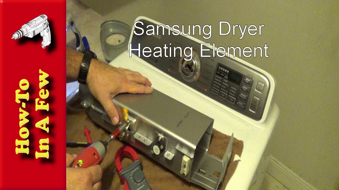 how to replace your samsung dryer heating coil youtube rh youtube com Samsung Dryer Belt Diagram Samsung Dryer Thermistor Replacement