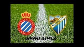 Málaga CF vs RCD Espanyol 0-1 Resumen Highlights 1st Half 08/01/2018