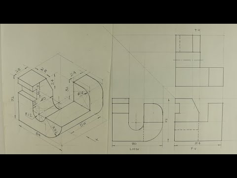 Download Orthographic projection - Engineering drawing - Technical drawing