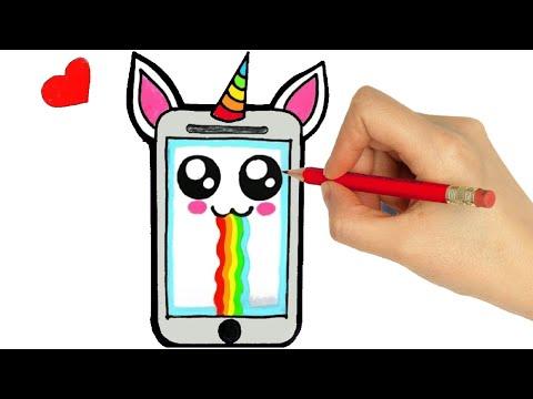 How To Draw A Smartphone Dibujar Un Celular Como Desenhar